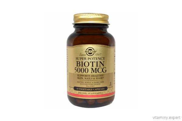 Solgar 5000 биотин для волос