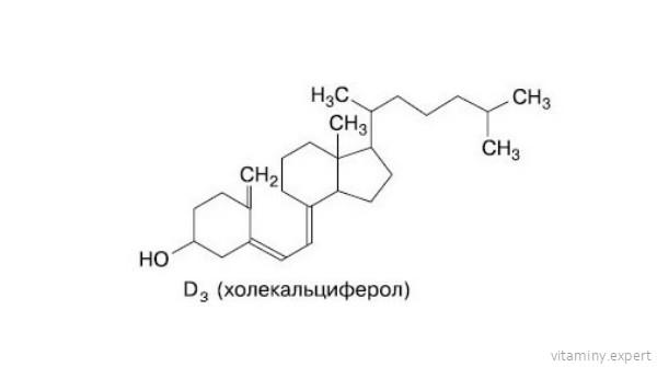 Формула холекальциферола