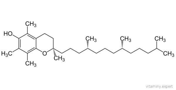 Формула токоферола ацетата