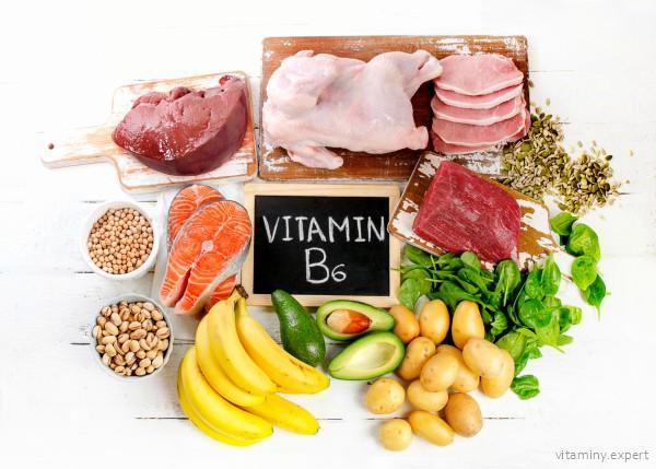 Где содержится витамин B6