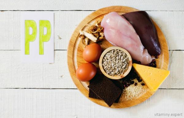 Где содержится витамин PP