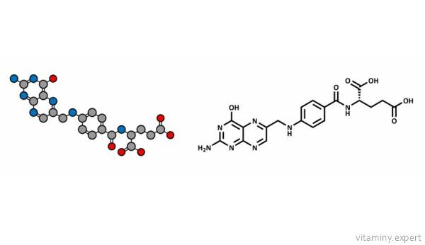Молекула фолиевой кислоты