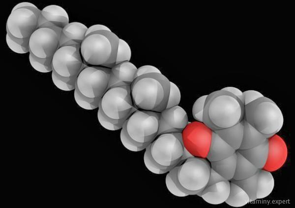 Молекула витамина Е