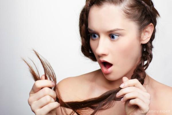 Плохие волосы - один из признаков нехватки витамина Е