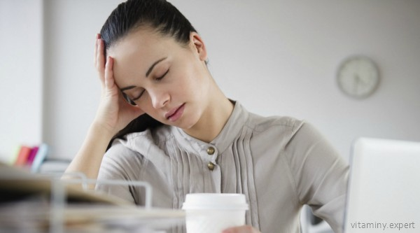 Снижение работоспособности может быть симптомом нехватки фолиевой кислоты