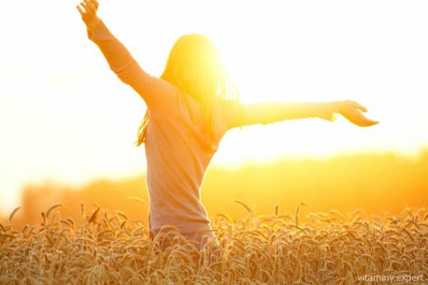 Солнце стимулирует выработку витамина Д