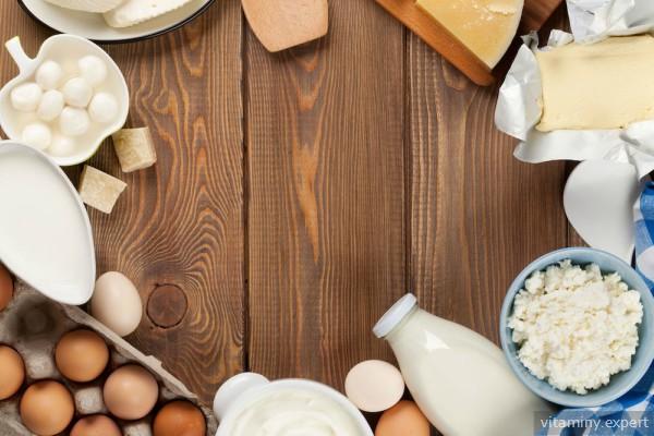 Инозитола много в молоке, яйцах, сыре