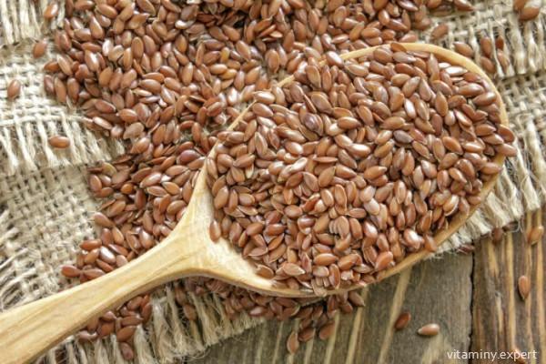Семена льна богаты витамином F