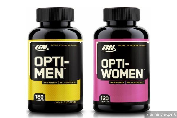 Opti-Men и Opti-Women