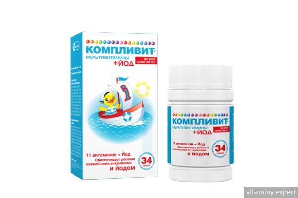 Компливит Мультивитамины + Йод