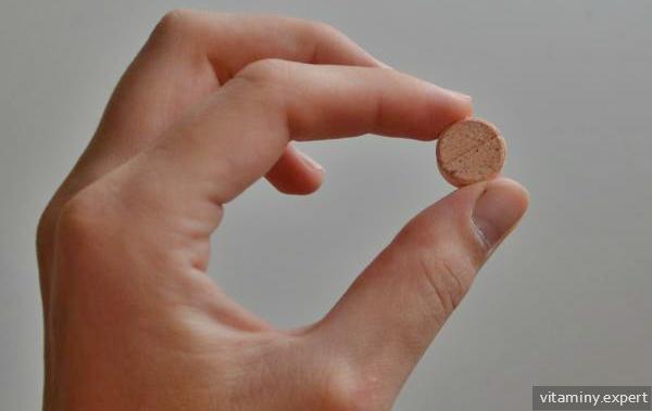 Таблетка в руке