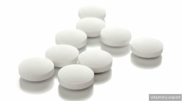 Круглые белые таблетки