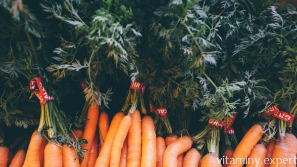 Морковь на рынке