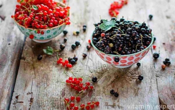 Черные и красные ягоды