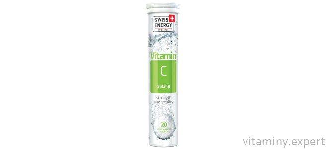 Миниатюра к статье О препарате Swiss Energy Vitamin С с дозировкой 550 мг