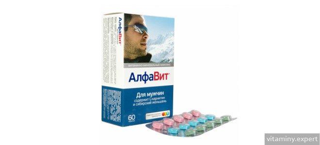 Миниатюра к статье Особенности приема витаминов Алфавит для мужчин