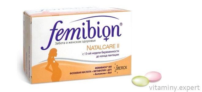 Миниатюра к статье Витамины Фемибион 2 для беременных и кормящих мам